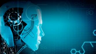 Computeranimiertes Bild eines Roboterkopfes