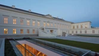 Blick auf den Innenhof von Schloss Herrenhausen